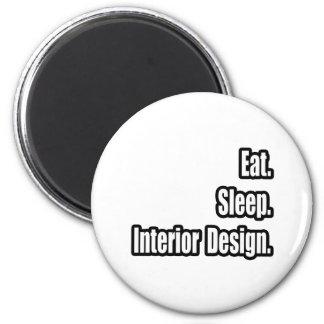 Eat. Sleep. Interior Design. Refrigerator Magnets