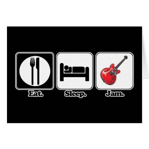 eat sleep jam guitar cards