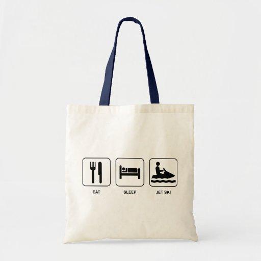 Eat Sleep Jet Ski Tote Bags