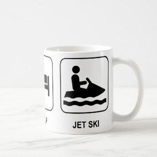 Eat Sleep Jet Ski Basic White Mug