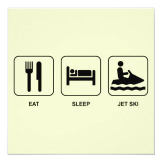 Eat Sleep Jet Ski Custom Invite