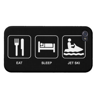 Eat Sleep Jet Ski iPhone 4 Cases
