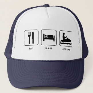 Eat Sleep Jet Ski Trucker Hat