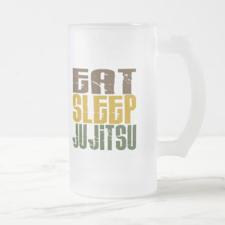 Eat Sleep Ju Jitsu 1 Frosted Glass Mug