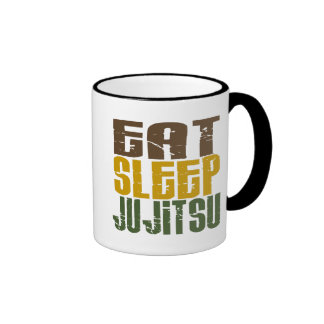 Eat Sleep Ju Jitsu 1 Ringer Mug