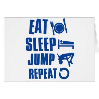 Eat sleep jump card
