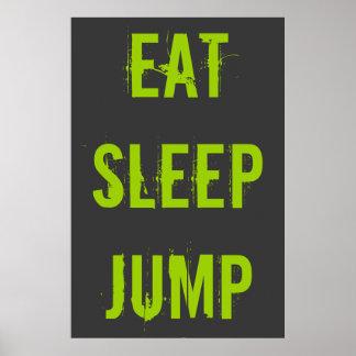 Eat Sleep Jump Poster