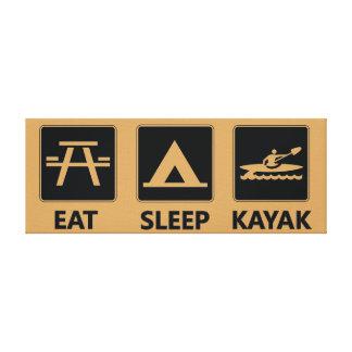 Eat Sleep Kayak Canvas Print