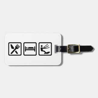 Eat sleep Kitesurfing Luggage Tag
