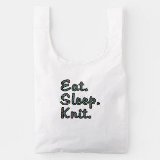 Eat. Sleep. Knit. Baggu Reusable Bag