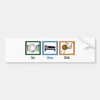 Eat Sleep Knit Bumper Sticker
