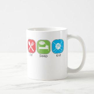 Eat Sleep Knit Mugs