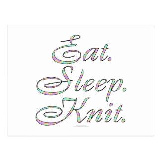 Eat. Sleep. Knit. Postcard