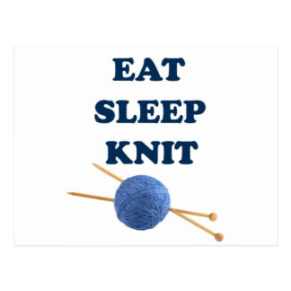 Eat Sleep Knit Postcards