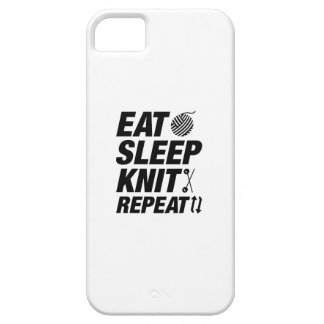 Eat Sleep Knit Repeat iPhone 5 Cover