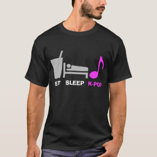 Eat Sleep Kpop T Shirt (dark)
