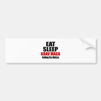 EAT SLEEP KRAV MAGA BUMPER STICKER