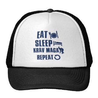 Eat Sleep Krav maga Hat