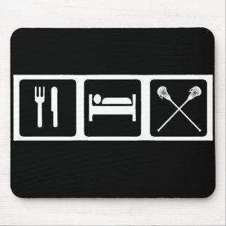 Eat, Sleep, Lacrosse Mouse Pad