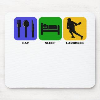 Eat Sleep Lacrosse Mousepads