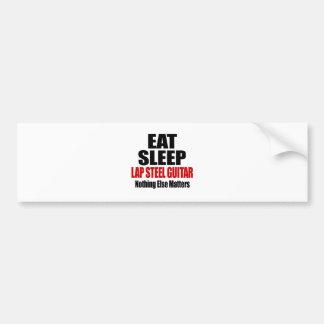 EAT SLEEP LAP STEEL GUITAR BUMPER STICKER