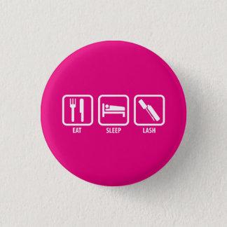 Eat, Sleep, Lash - 3D Mascara 3 Cm Round Badge
