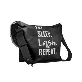 Eat. Sleep. Lash. Repeat Messenger Bag