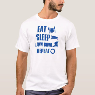 Eat sleep lawn bowl T-Shirt