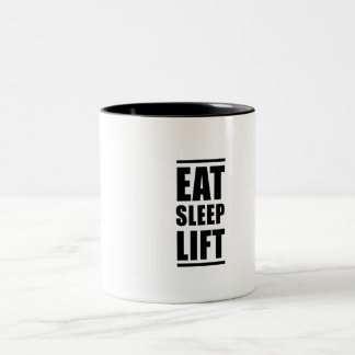 Eat Sleep Lift Two-Tone Coffee Mug