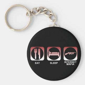 Eat Sleep Mafia Basic Round Button Key Ring
