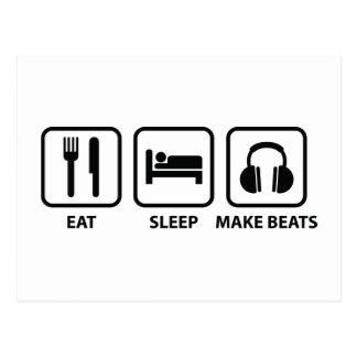 Eat Sleep Make Beats Postcard