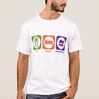 Eat Sleep Make Pottery T-Shirt