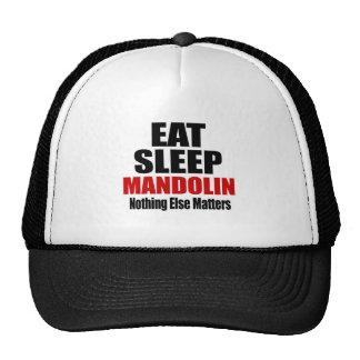 EAT SLEEP MANDOLIN CAP