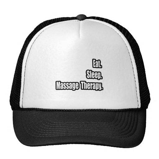 Eat. Sleep. Massage Therapy. Hat