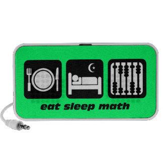 eat sleep math iPod speaker