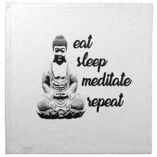 Eat, sleep, meditate, repeat napkin