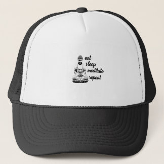 Eat, sleep, meditate, repeat trucker hat