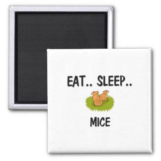 Eat Sleep MICE Square Magnet