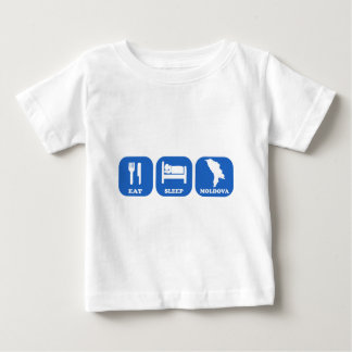 Eat Sleep Moldova Baby T-Shirt