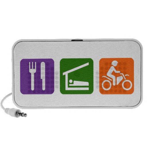 Eat Sleep Motocoss Notebook Speaker