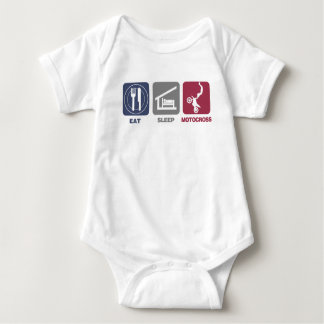 Eat Sleep Motocross Baby Bodysuit