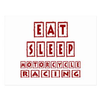 Eat Sleep Motorcycle Racing Postcard