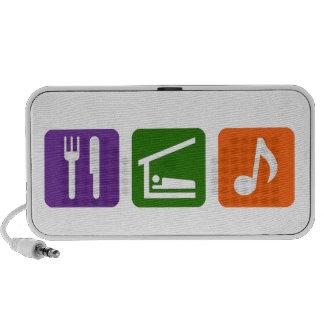 Eat Sleep Music Notebook Speaker
