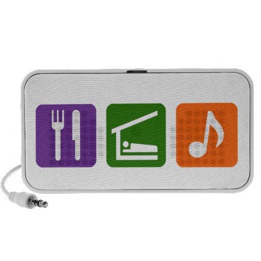 Eat Sleep Music Mp3 Speakers