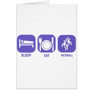Eat Sleep Netball Card