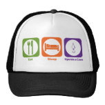 Eat Sleep Operate a Crane Mesh Hats