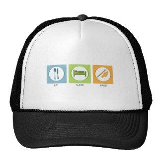 Eat Sleep Paint Hats