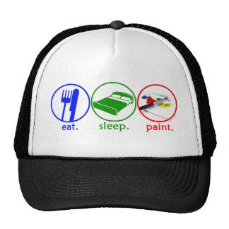 Eat Sleep Paint Mesh Hats