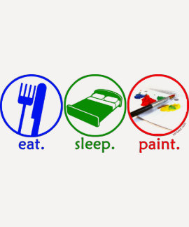 Eat Sleep Paint Tee Shirt
