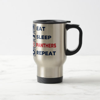 eat,sleep,panthers,repeat travel mug